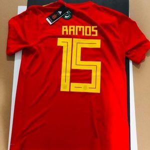 30db2e65dc7 adidas Shirts | Espaa Sergio Ramos 15 Spain Soccer Jersey Fifa ...